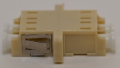LC Duplex Beige Multimode Coupler with flange