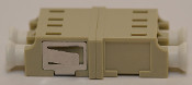 LC Duplex Beige Multimode Coupler with reduced flange