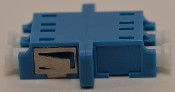 LC Duplex Blue Singlemode Coupler with flange