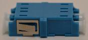 LC Duplex Blue Singlemode Coupler with reduced flange