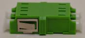 LC/APC Duplex Green Singlemode Coupler without Flange