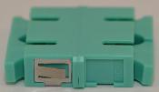 SC Duplex Aqua Multimode 10Gb OM3 Coupler with reduced flange