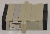 SC Duplex Beige Multimode Coupler with flange