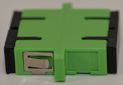 SC/APC Duplex Green Singlemode Coupler with flange