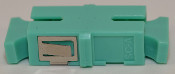 SC Simplex Aqua Multimode 10Gb OM3 Coupler with reduced flange