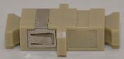 SC Simplex Beige Multimode Coupler with flange