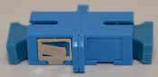 SC Simplex Blue Singlemode Coupler with flange