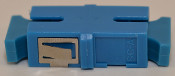 SC Simplex Blue Singlemode Coupler with reduced flange