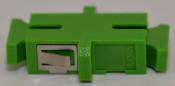 SC/APC Simplex Green Singlemode Coupler with flange