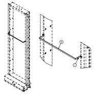 "2205440230 CABLE LACING BRACKET KIT 4"" X 23"" TE GRAY"