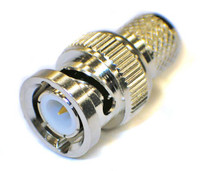 BNC Male Connector for RG8U/RG213/LMR400/LMR400UF/LOW400/LOW400DB/ cables - Crimp Connector with Captivated Pin