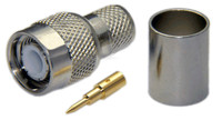 TNC Male Connector For RG8U/RG213/LMR400/LMR400UF/LOW400 - Crimp Connector with Solder Pin
