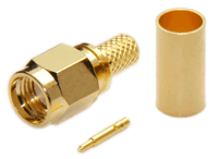 SMA Male Connector For RG8x/LMR240/LMR240UF/LOW240 - Crimp Connector with Solder Pin