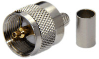 PL259 Male Straight Type Connector For RG58/RG142/RG223/RG400/LMR195/LOW195 - Crimp Connector with Solder Pin