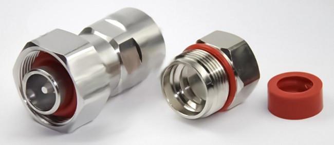 """4.1/9.5 Mini-DIN Male Connector for 1/2"""" Super Flex Cable - SPF-1/2 or FSJ4-50B"""