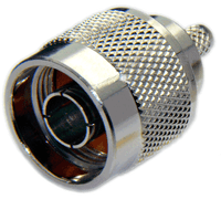 Type N Male Connector for RG8U/RG213/LMR400/LMR400UF/LOW400 -  Crimp Connector with Solder Pin