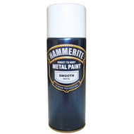 Hammerite Smooth White Spray Paint - 400 ml