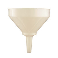 "Large White Plastic Funnel - 195 mm (7½"")"