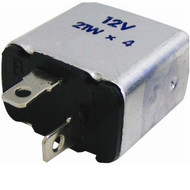 Two Pin Flasher Unit / Hazard Warning Relay Square - 12 Volt 4 x 21 watt
