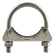 "Steel Twin Bolt 'U' Exhaust Clamp - 65 mm (2½"")"