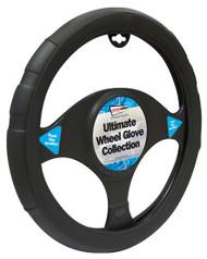 Steering Wheel Cover For Cars - 37 cm Black
