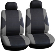 Pair Front Seat Cover Including Head Rest Covers - Dark & Light Grey