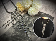 Long Crystal Necklace