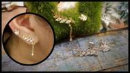 Sterling Silver 2 Piece Set Leaf Earrings