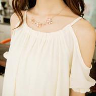 Pink Transparent Flower Necklace