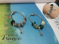 Cute Beads Bracelet with Eiffel Tower Charm