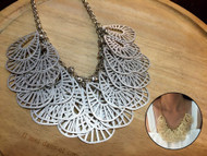 Flat Leaf Pendant Necklace
