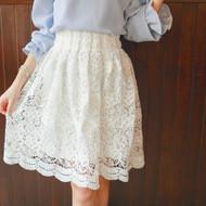 Pierced Lace Skirt