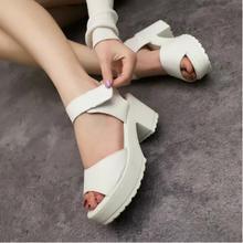 Velcro Ankle Strap Platform Sandals