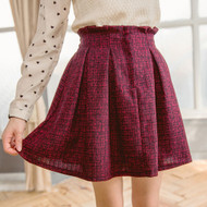Pleated Textured Skirt