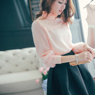 Chiffon Lace Collar Blouse