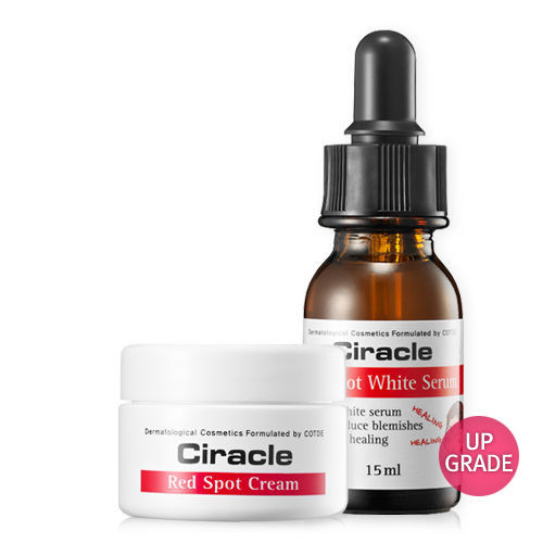 Ciracle Red Spot Cream 30ml + Red Spot White Serum 15ml Pimple Trouble skin Acne