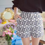 Tower Pattern Pocket Shorts