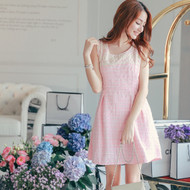 Chest Embroidered Dress