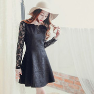 Elegant Lace Sleeve Dress