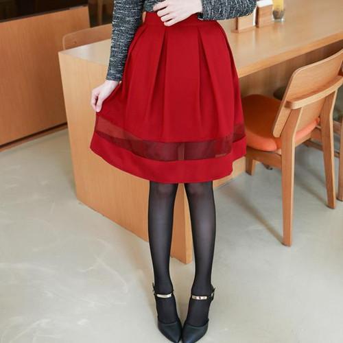 A Line Hem Gauze Skirt