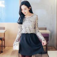 Palace Style Lace Stitching Dress