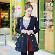 Korea Style Waist Trench Coat