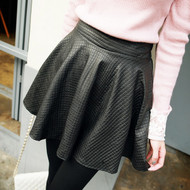 Faux A Line Leather Skirt