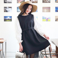 Decorative Tweed Wool Dress