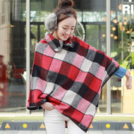 Scotland Plaid Wool Cape Coat