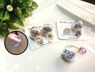 Clear Ball Earrings