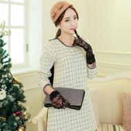 Lady Coco Style Tweed Dress