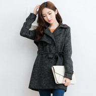 Womens Double Breasted Wool Coat
