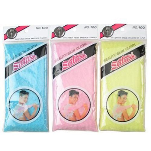 Salux Japanese Wash cloth Nylon Beauty Skin Cloth Bath Shower Scrub 3 PCS