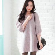 Wool Doll Collar Lace Dress